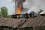 Сильный пожар в центре Котельнича