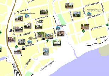 Иллюстрированная карта города Котельнича