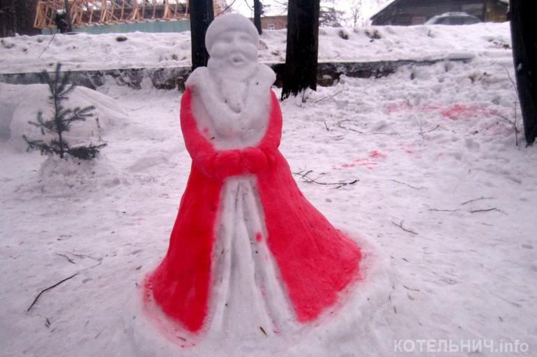 Как сделать фигуру из снега своими руками фото