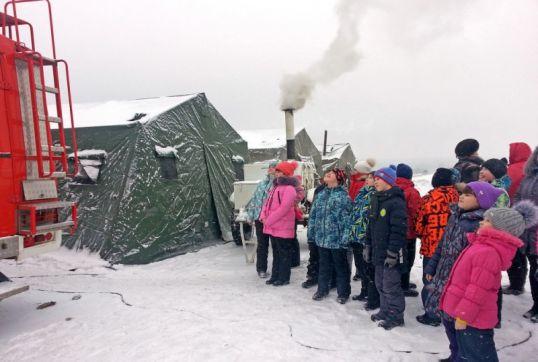 Котельничские школьники воспользовались пунктом обогрева МЧС