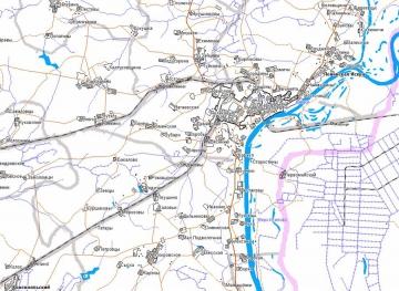 Карта Котельничского района