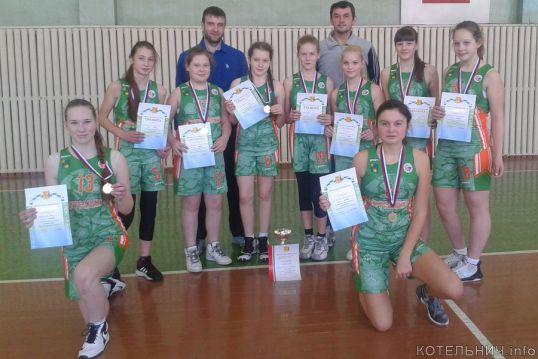 Котельничские баскетболистки лучшие в области