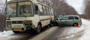 """""""Калина"""" столкнулась с автобусом"""