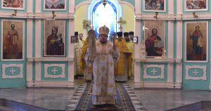 Епископ Паисий провел службу в Никольском храме