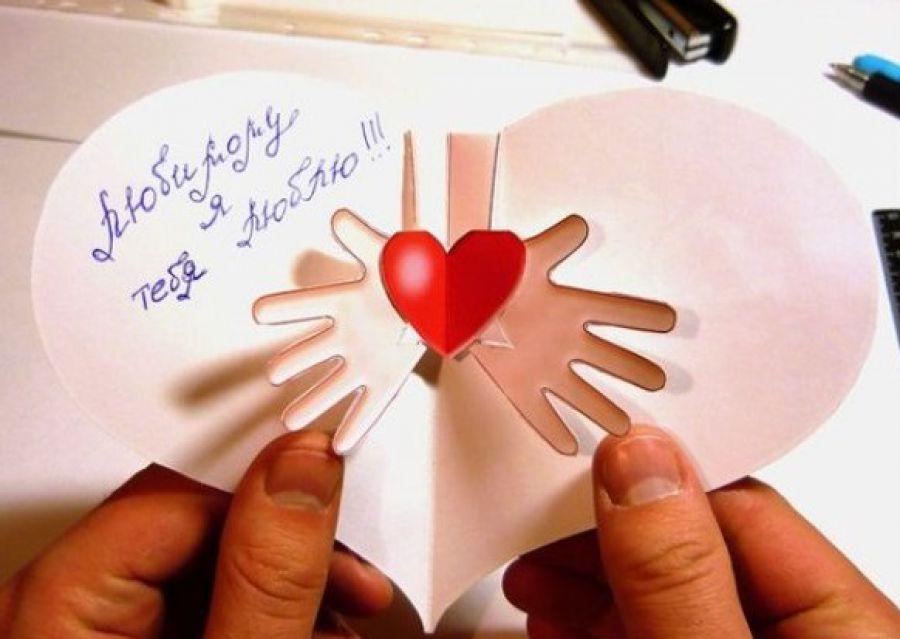 День святого валентина.как сделать подарок своими руками