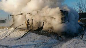 Пожар в Покровском