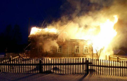 Пожар в Карпушино