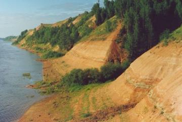 Котельничское местонахождение ископаемых ящеров на р.Вятка