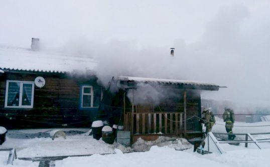 Пожар на улице Титова