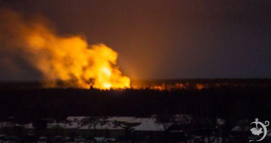 Пожар в Затоне